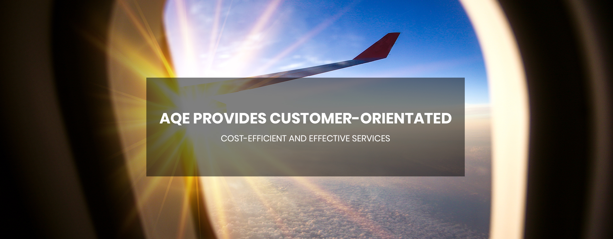 AQE provides customer-orientated cost-efficient and effective services
