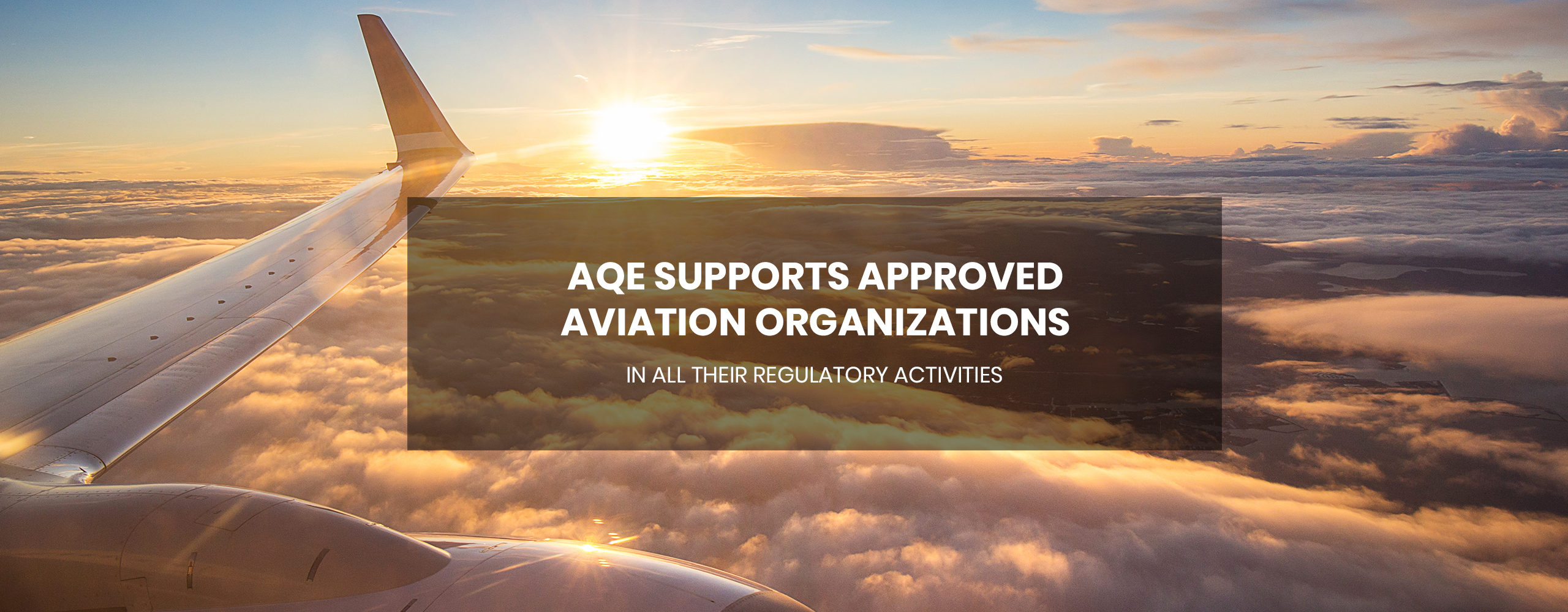 AQE supports approved aviation organizations in all their regulatory activities